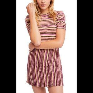 Free People Into You Knit Sweater Mini Dress NWOT